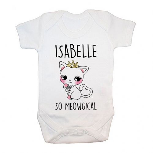 Personalised So Meowgical Baby Grow